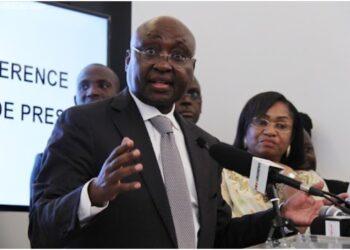 Le président du groupe de la Banque africaine de développement (BAD), Donald Kaberuka a animé à Abidjan le mardi 19 août 2014 une conférence de presse pour marquer le retour effectif de l'institution sur les bords de la lagune Ebrié.