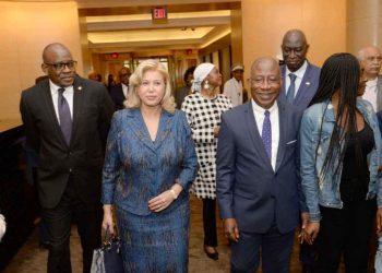 Mme Dominique Ouattara à son arrivée le 14 septembre 2019 à Washington. photos: Cabinet de la Première Dame