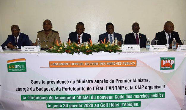 Lancement officiel du nouveau code des marchés publics de Côte d'Ivoire le 30 janvier 2020 à Abidjan. Photo : ANRMP