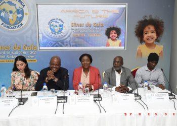 photo: afrikipresse La fondation children of africa lance son 8e diner de gala, prévu le 3 avril 2020 (conférence de presse du 24 février 2020)