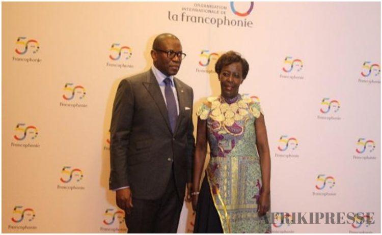 Le ministre congolais Pépin Guillaume Manjolo et Louis Mushikiwabo (OIF)