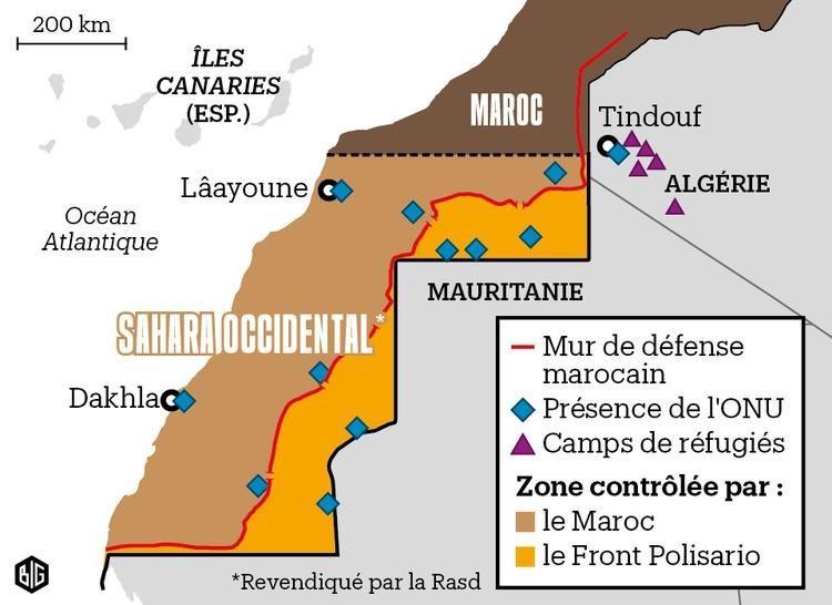photo Moroccomail.fr Carte du Sahara Occidental