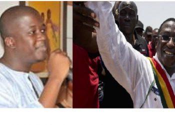 photo montage afrikipresse: Bocar Cissé et son père l'opposant malien Soumaïla Cissé