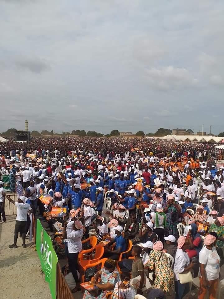 200.000 personnes au meeting de Ouattara à Bouaké (campagne, présidentielle,  côte d'ivoire)
