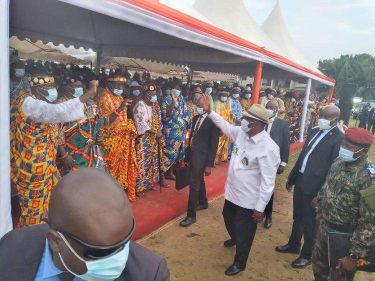 Alassane Ouattara depuis Ebimpé: « je suis candidat par amour pour notre Pays »