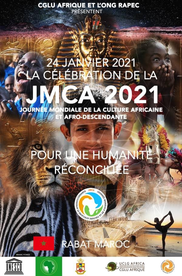 Maroc :  célébrer la culture africaine pour une humanité réconciliée (JMCA 2021, 8ème édition,  Rabat)