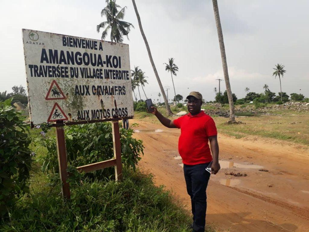 sur les ruines des habitations de Amangouakoi et d'Aéro canal