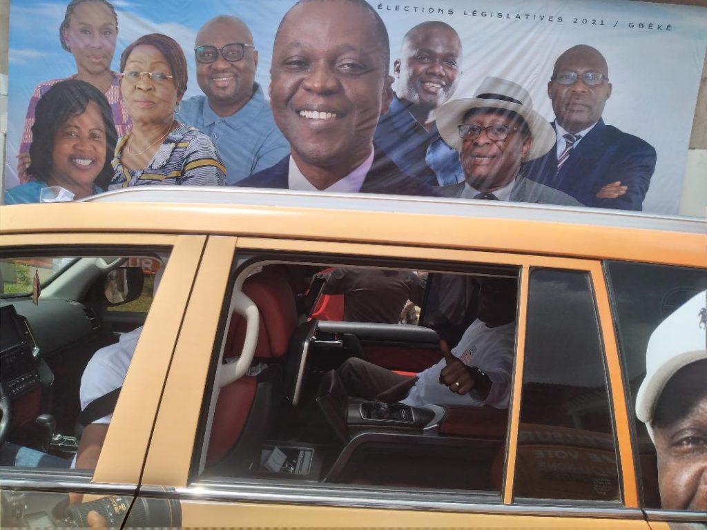 Bouaké: 1000 mototaxis pour Amadou Koné (campagne Législatives 2021)