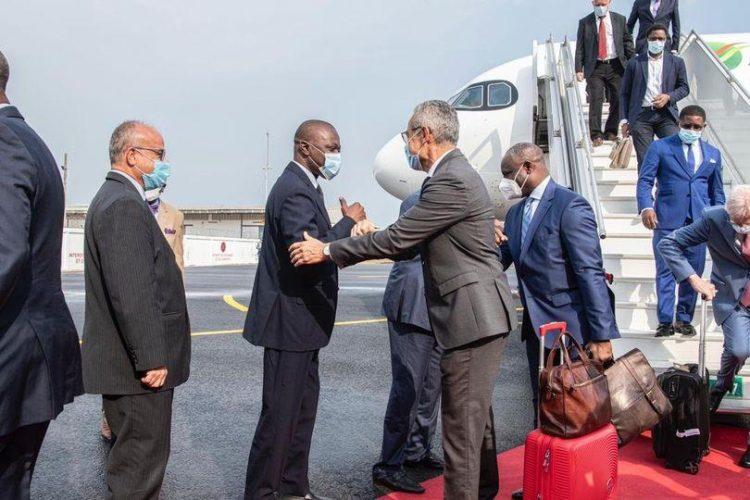 le ministre Amadou Koné à la réception du Airbus 320 néo