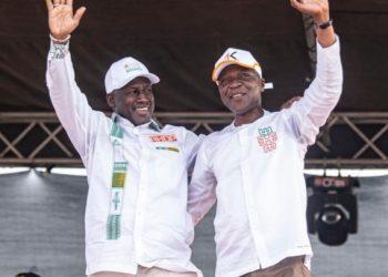 Amadou Koné, coordonnateur régional RHDP, parti d'Alassane Ouattara, était ce 26 février à la place ADO dans le cadre de la campagne législative.
