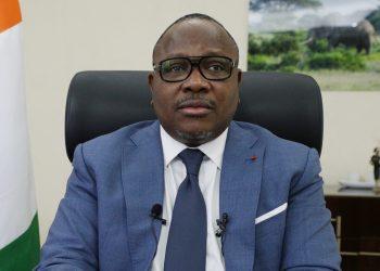 Le président de la Cei, Ibrahime Coulibaly, livre un message à la veille des élections législatives du 6 mars 2021 en Côte d'Ivoire.