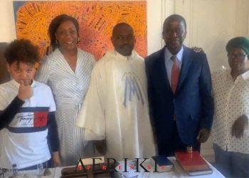 une photo du jour des 70 ans du Président du sénat Ahoussou Jeannot dévoilée