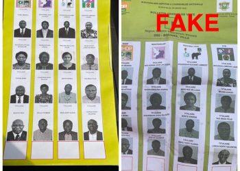 Un spécimen de bulletin campagne comportant la photo du président Ouattara à la place de celle du candidat de la liste ''Ensemble pour bâtir'', a fait réagir la CEI.