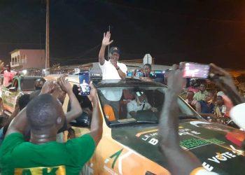 À Bouaké (centre) Amadou Koné devrait l'emporter sans grande difficulté. le candidat Rhdp de Bouaké a fait une démonstration de force jeudi.