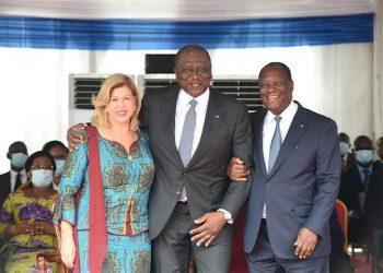 Alassane et Dominique Ouattara - Hamed Bakayoko