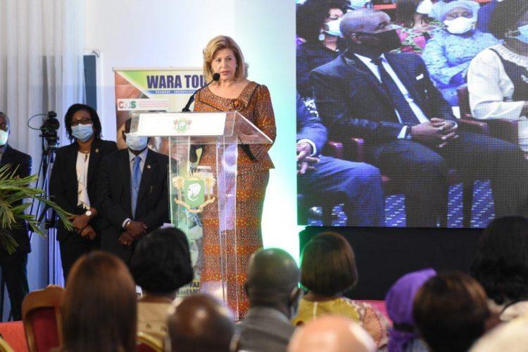 La Première Dame Dominique Ouattara, Présidente du Comité National de Surveillance des actions de lutte contre la Traite, l'Exploitation