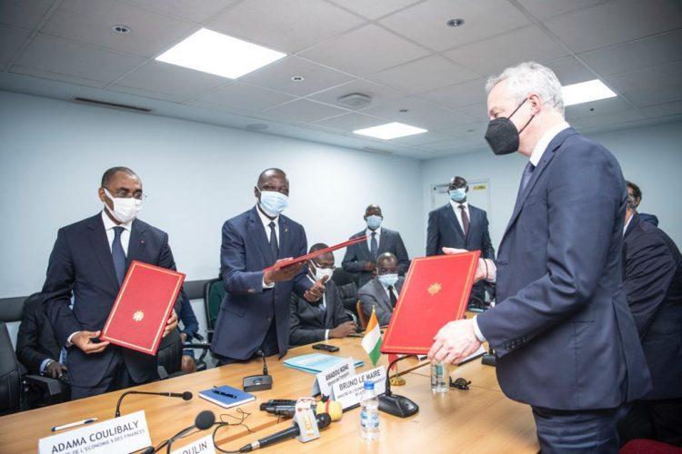 La coopération entre la Côte d'ivoire et France se porte bien. En visite de travail à Abidjan Bruno Le Maire, Ministre français de l'Economie