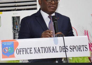 Ce jeudi 29 avril 2021, le Ministre de la Promotion des Sports et du Développement de l`Economie Sportive, Paulin Claude DANHO .