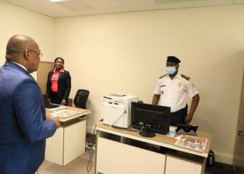Le secrétaire d'état auprès du ministre des transports en charge des Affaires Maritimes, Dr. Serey Doh Célestin a effectué une visite