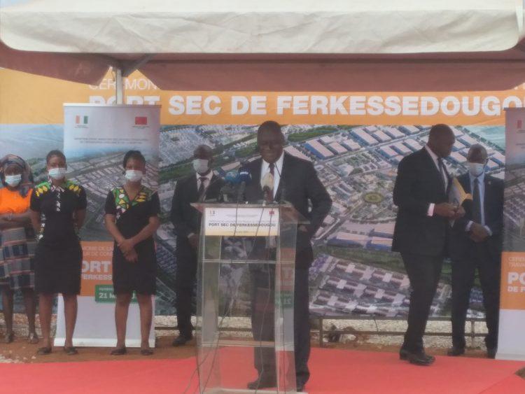 Tené Birahima Ouattara a appelé, lors du lancement de la construction du port sec de Ferkessédougou, la jeunesse à saisir cette opportunité.
