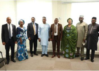Une forte délégation (11 membres) de la république fédérale du Nigeria conduite par Mme Gbemisolar Saraki, ministre déléguée au transport séjourne actuellement en Côte d'ivoire en vue de solliciter le soutien du gouvernement ivoirien à la candidature du DR. Paul ADALIKWU au poste de secrétaire général de l'organisation maritime pour l'Afrique de l'ouest de centre (OMAOC)