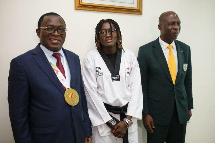 Le ministre de la Promotion des Sports et du Développement de l'Économie Sportive, Danho Paulin a félicité et galvanisé les takwondo'ins